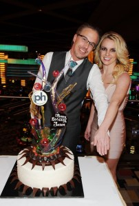 Britney and Jason's engagement party at the Planet Hollywood Resort and Casino on Dec. 16, 2011. Photo via music.yahoo.com