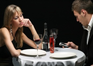 Worst nightmare date. That guy is never getting called back, ironically, because he's always on his phone. Rude! Photo via ethicalnag.org