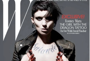 Rooney Mara as Lisbeth Salander on the cover of W magazine, Photo: W Magazine