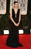 Rooney Mara arriving at the 2012 Golden Globes wearing a Nina Ricci dress, Photo: via deadline.com