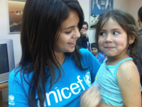 Selena Gomez in Valparaíso, Chile. Photo via unicef.org