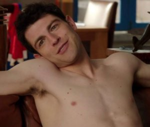 Schmidt, put your shirt back on! Or don't. I don't know, I'm confused.