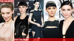 The transformation of Rooney Mara into her on-screen and off-screen character, Lisbeth Salander. Photo via gawker.com