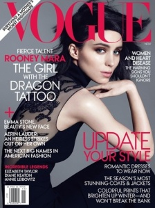 Rooney Mara, vogueing. Photo via thehollywoodreporter.com