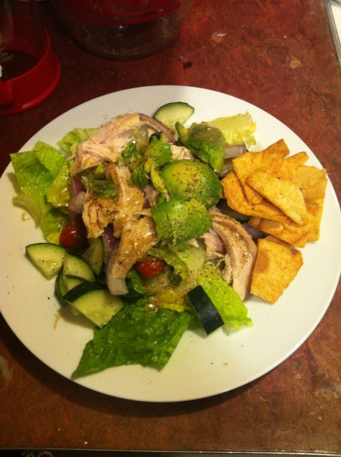 Garlic Chicken Avocado Salad