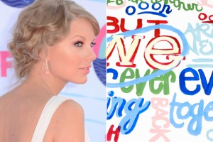 T swift and her font-y lyric video