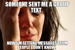 Group text message etiquette dating